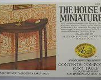 Xacto Craft Kit Hepplewhite Side Table Dollhouse Furniture 40004 Vintage The House Of Miniatures Kit