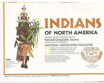 Indians of North America  1972  Vintage