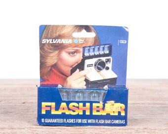 Polaroid Flash Bar / One Step Camera Flash Bulbs / Camera Flash Bulbs / New Old Stock / Sylvania Blue Dot Flashbulbs Vintage SX-70 Flash Bar