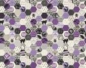 Happy Haunting by Deena Rutter for Riley Blake Designs, Hexagon Purple, SKU C4673, 1 yd