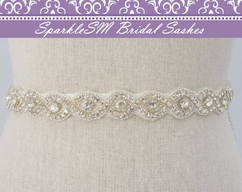 Rhinestone Sash, Crystal Bridal Sash, Bridesmaids Sash, Swarovski Sash, Jeweled Bridal Belt, Prom Sash, Crystal Belt, Wedding Dress Sash