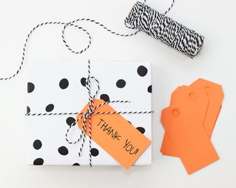 Orange Paper Gift Tags Halloween Tags Orange Party Supplies Solid Color Paper Tag Goodie Bag Tag Wrapping Paper Orange Gift Wrap / Set of 10