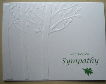 Embossed Peaceful Trees Sympathy Card