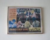 1957 Movie Printers Proof Poster for Dragstrip Girl American International Pictures