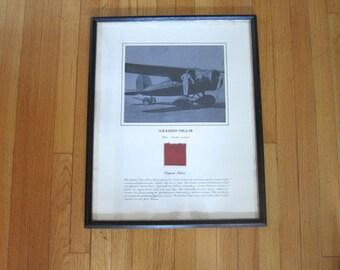 Historic Aviation, Aviation Art, Fabric from Amelia Earhart Lockheed Vega 5B, Aviation Memorabilia