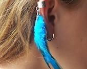 Feather Ear  Cuff - Dark Turquoise