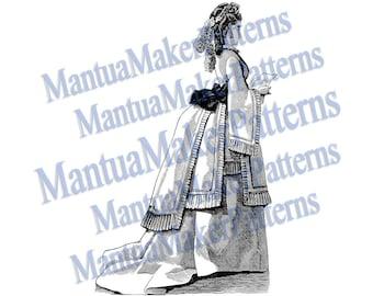 Victorian Dress Engraving, Instant Digital Download, 1871 #3