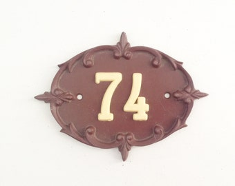 74 Door number use for home decor, assemblage, art , photography prop
