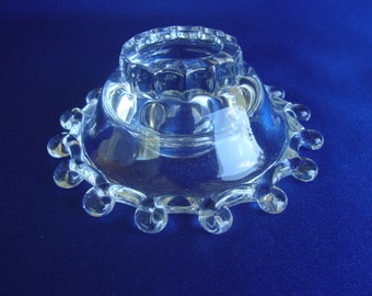 Heisey Lariat candle holder crystal