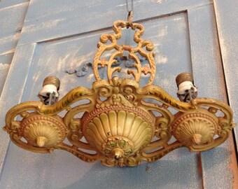 Art Deco Chandelier 2 Candlestick Candelabra Lights For Restoration Art Nouveau