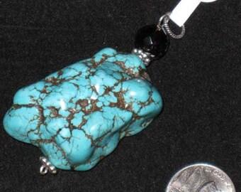 Ex Large Turquoise Nugget Pendant