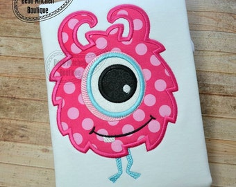Monster Girl Applique Shirt - BIRTHDAY Design - Monster Theme - Custom Fabric colors available