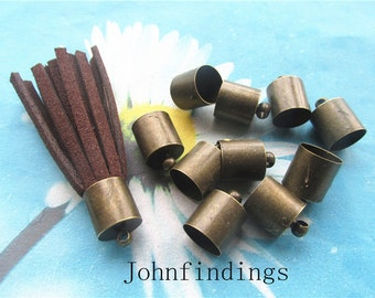 Promotion sale 20pcs 15x10mm antiqued bronze tassel caps/cord end/cord terminer charms findings