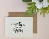 Mother of the Groom Greeting Card.  Wedding card. Greeting Card