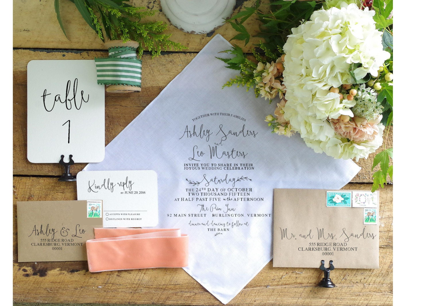 wedding invitations printed on handkerchiefs - 28 images - of a ...