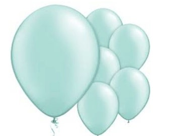 Mint Green Balloons 11 inch Balloons / 8 Pack / Pearl Mint Green Balloons / Photo Props Weddings Birthdays Bridal Shower Baby Shower