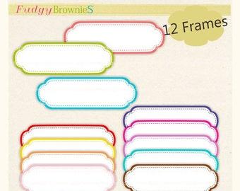 ON SALE frame clip art , digital clipart , Digital frame, Long Frames clipart, digital scrapbooking frames.A-40 , Instant Download