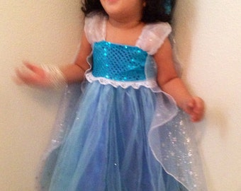 Size 7 Queen Elsa Dress