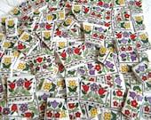 TULIPS - VINTAGE Royal Doulton English China Fire Glow Pattern - Mosaic Tiles