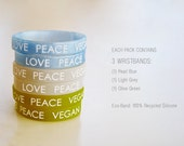 Vegan Accessories : Multi Color Pack Wristbands (Pack of 3)