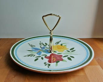 Stangl Pottery Country Garden Pattern Dish with Handle.