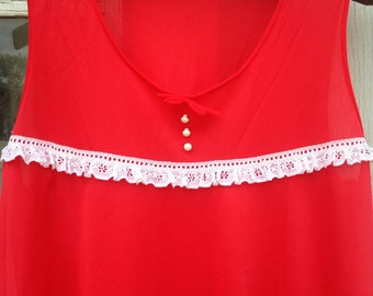 Vintage Red Negligee