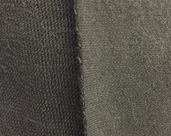 100% Cotton French Terry Fabric by the yard Black (295)