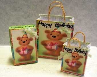 Miniature Gift Bags and Box