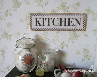 Kitchen Sign/Print for Dollhouse Miniature