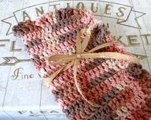Crochet dishcloth, cotton dishcloth, crochet washcloth, pink camo, dishcloth, pink camo washcloth, pink camo decor, rustic kitchen, dishrags