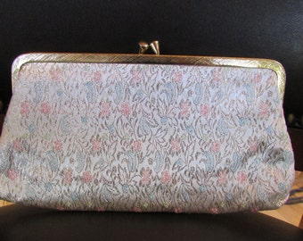 SALE Vintage Floral Clutch Purse
