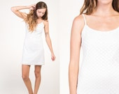 Vintage 90's White Crochet Lace Strappy Dress