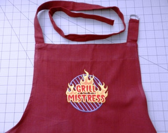 Grill Mistress - Oversized Full Apron - BBQ in Style!