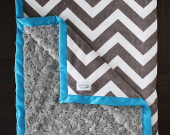Custom Minky Blanket, chevron blanket, Minky Blanket, baby boy, chevron minky, personalized minky blanket, personalized wedding gift