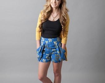 Silk, shorts, pockets, resort, vacation, bamboo, uniform~Best Day of My Life (silk shorts)