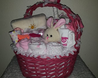 Diaper Stork with Ultimate Baby Basket