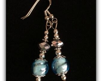 Beautiful glass beaded earrings