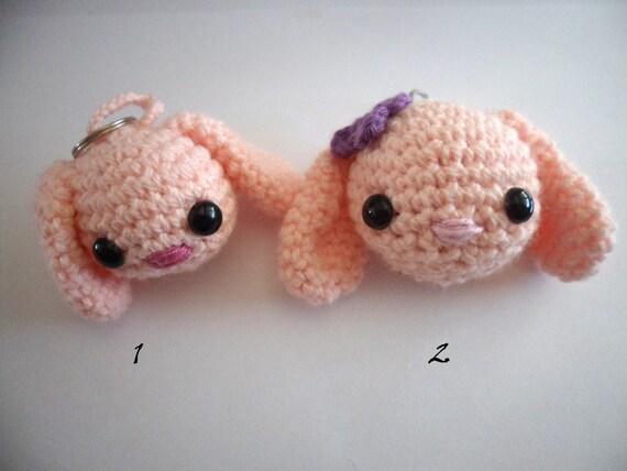Amigurumi Bunny Keychain : Items similar to Crochet keychain bunny, crochet bunny ...