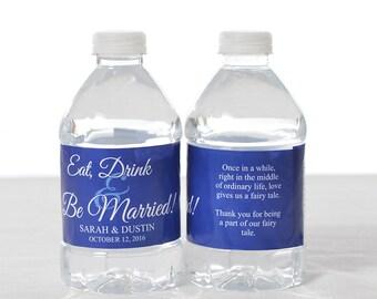 50 Wedding Water Bottle Labels - Wedding Water Labels - Custom Water Bottle Labels - Waterproof Water Bottle Labels