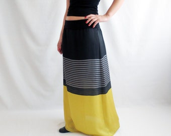 Long striped skirt, Maxi skirt, Long skirt, Full skirt, Strapless dress, Boho skirt, Black skirt, Floor length skirt, Plus size skirt