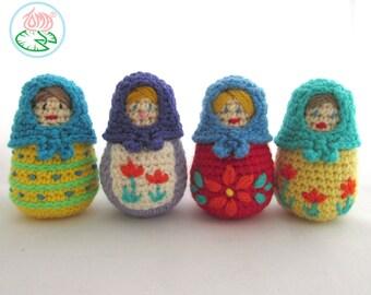 Amigurumi Matryoshka (Babouska), Russian Nesting Doll (Digital Download)
