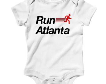 Baby Run Atlanta V2 Romper - Infant One Piece - NB 6m 12m 18m 24m - RUN ATL Baby - 4 Colors