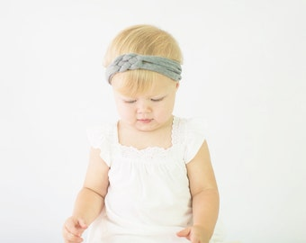 BOHO Collection: Your Choice of Solid Color Knotted Jersey Knit Headband