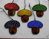 Stained glass mushroom