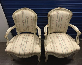 Louis XV Painted Wood Fauteuil Chair
