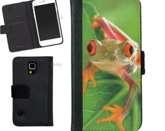 Tree Frog Wallet Phone Case iphone 5/5s iPhone 6 Case Samsung Galaxy s4 s5 s6