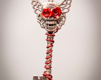 Angel of death Skeleton key necklace - chose your own colour