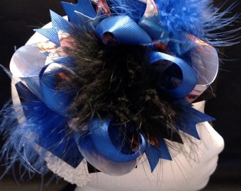 Blue Disney Frozen Elsa Anna Over-The-Top Hair Bow Hairbow