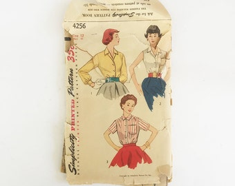 Simplicity vintage pattern, Simplicity pattern 1971, c. 1947, Misses some 20 blouse, slacks and bolero