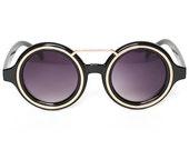 """Vintage Wayfarer Sunglasses, 1980s Wayfarers """"Melanie"""" Black Rim Frame Shades"""